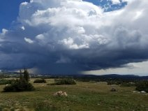 Storm building over the Snowies